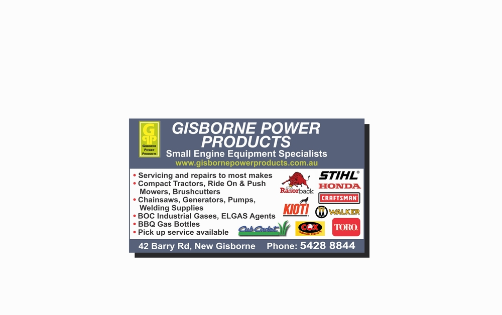 Gisborne Power Products - MOWER SALES & SERVICE